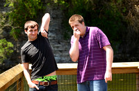 Justin and Kevin Senior Pics Bloopers